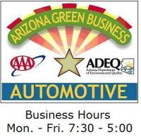 Green Certified Phoenix car repair logo.
